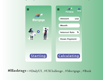 Mortgage - UX/UI Design #DailyUI #003