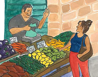 Faces in the market—Shuk Machane Yehuda