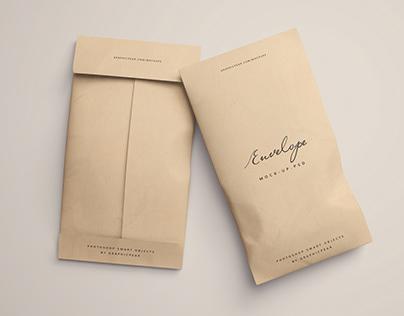 Twin Envelope Packages Mockup