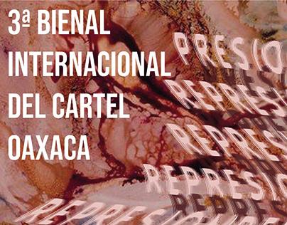 Cartaz para a 3 bienal internacional del cartel oaxaca