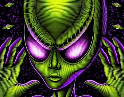 """Break Point FC """"Alien"""" rash guard"""