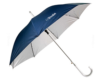 Baseball cap and umbrella with logo