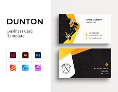 DUNTON Business Card Template