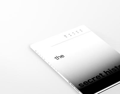 the secret history / book cover design