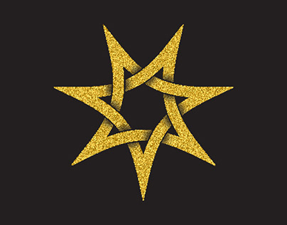 Glittering logo symbols