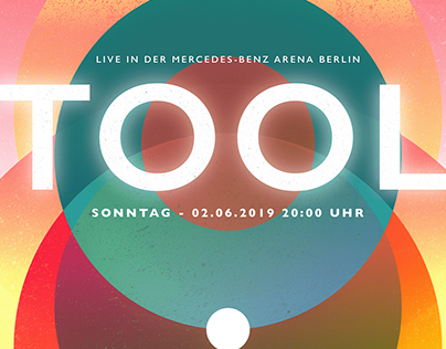 A Poster for Tool live in Berlin - June 2019