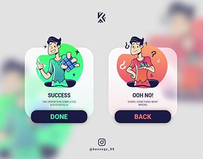 Flash Message Ui Design DailyUI 011