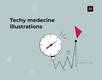 Techy medecine illustrations