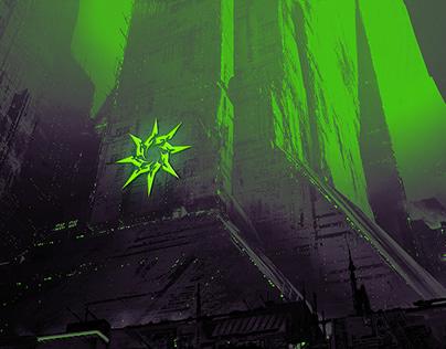 Val'Herus - Sci Fi group branding: spaceship, weapons..