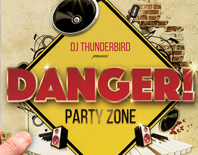 Club Party Flyer • Danger! Party Zone