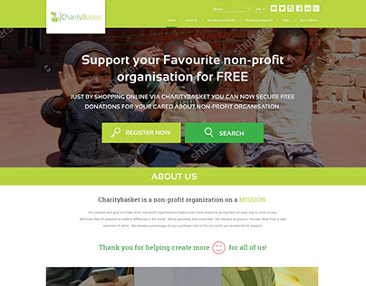 CharityBasket Home Page