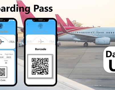 Boarding Pass DailyUI024