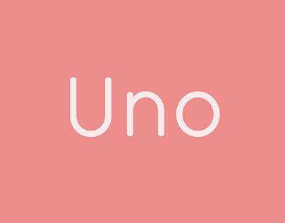Uno — Custom Typeface