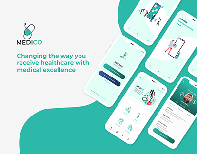 MediCo - Medical mobile app UI/UX design