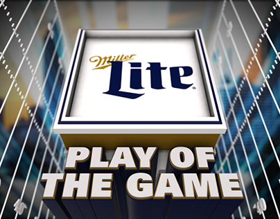 Miller Lite Play of the Game Sponsor Styleframe