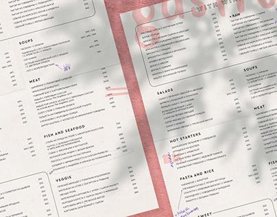 "Menu for restaurant ""Gastroli"""