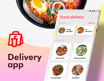 Food Delivery App UX/UI with free Adobe XD template