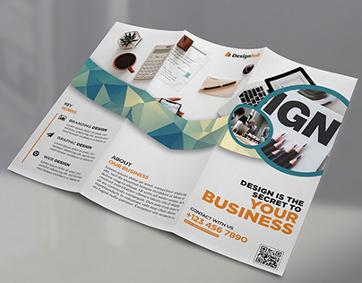 Design Agency Trifold Brochure