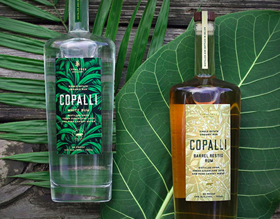 Copalli Rum - series of bottle labels