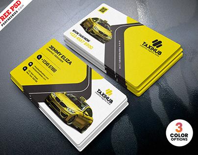 Taxi Cab Service Business Card PSD