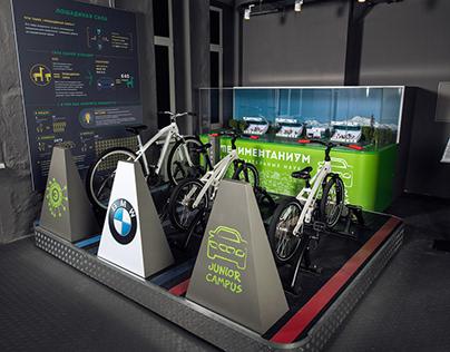 """""""Race Track"""" simulator design for BMW Junior Campus"""