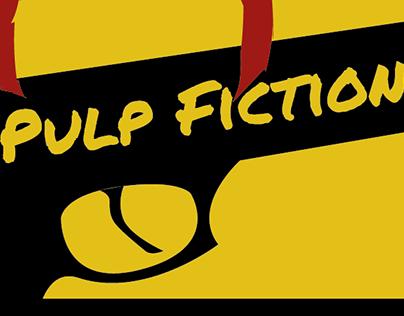Releitura do cartaz do filme Pulp Fiction