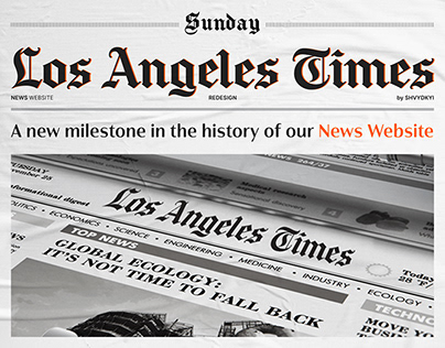 Los Angeles Times – News website redesign concept