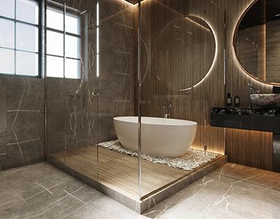 Bathtub on the pebbles by Kulthome