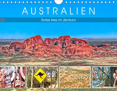 Australien - Rotes Herz im Zentrum