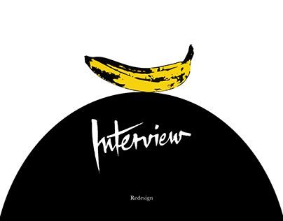 Interview Magazine Redesign
