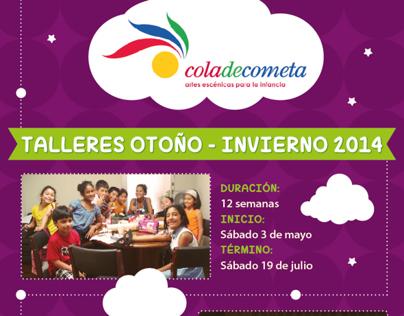 FLYER COLA DE COMETA OTOÑO INVIERNO 2014