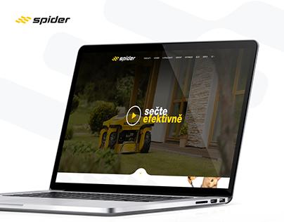 Spider - dálkově ovládané svahové sekačky