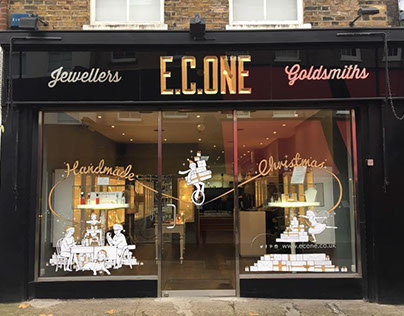 EC One Christmas window