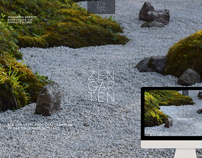 Zen Garden Website showcases SLIDES template