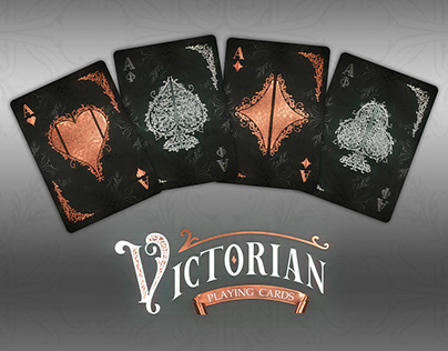 Victorian playng cards set
