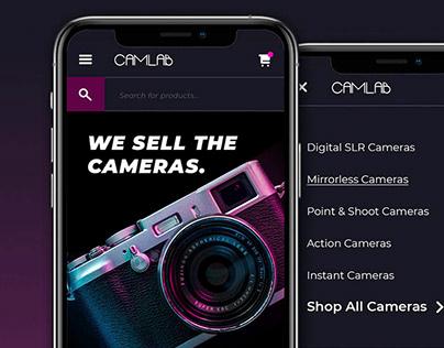 Camlab - eCommerce Website