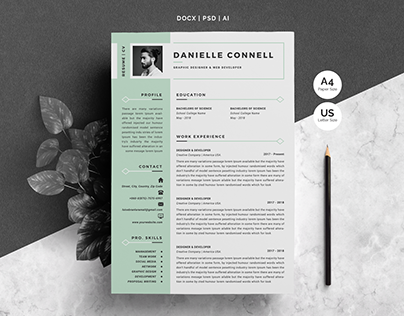 Word Resume Template & Cover Letter