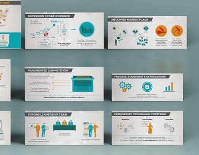 Graphics for investor pitch deck