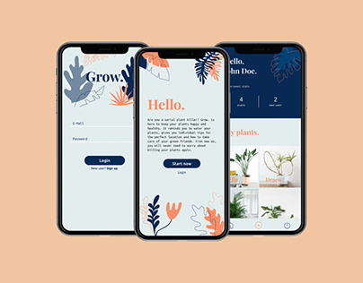Grow – A Web App About Plants