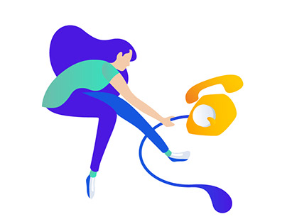 CM.com Aurora UI illustrations