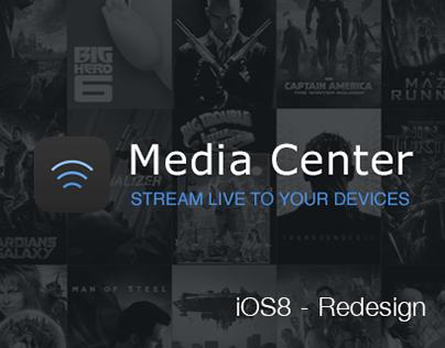 Media Center - iOS8 Redesign