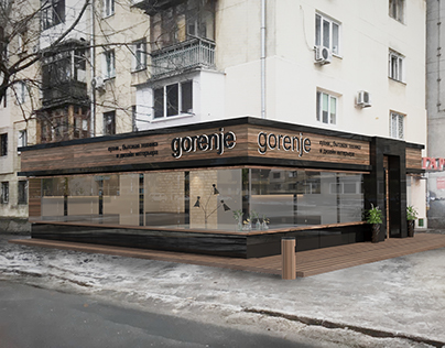 Реконструкция фасада для салона gorenje