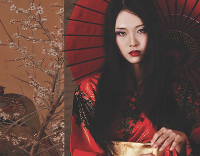 Website and Poster of Madama Butterfly's project