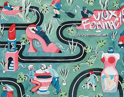 A city of Women - Vox Feminae festival visual