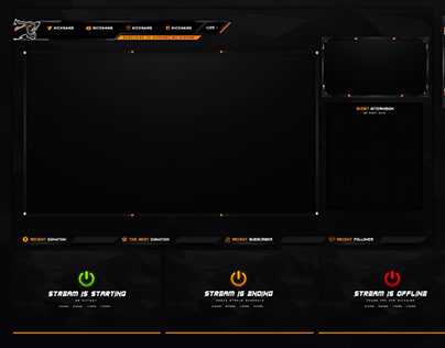 BEST MULTICOLOR STREAM OVERLAY TEMPLATE 2019 DOWNLOAD