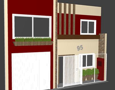 PROJETO: recuperação de fachada residencial