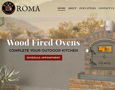 Roma Pizza Ovens Website Development