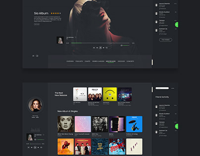 SPOTIFY REDESIGN LAYOUT // UI.UX & WEB