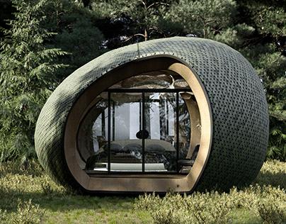 Concept guest houses in the Carpathians