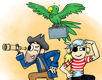 The Job Treasure Hunt: Illustration, Character Design